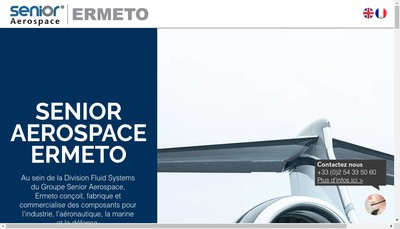 Site internet de Senior Aerospace Ermeto