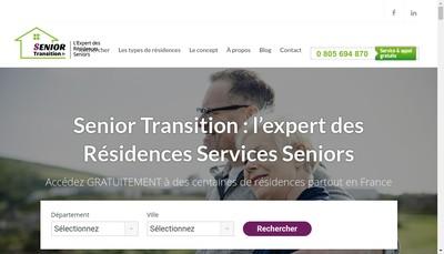 Site internet de Senor Transition