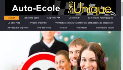 Site internet de Ecole de Conduite Sens Unique
