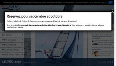 Site internet de Sensation Ocean