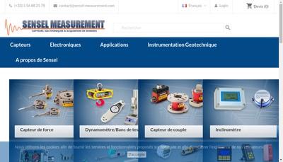 Site internet de Sensel Measurement