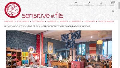 Site internet de Sensitive & Fils