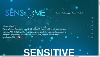 Site internet de Sensome