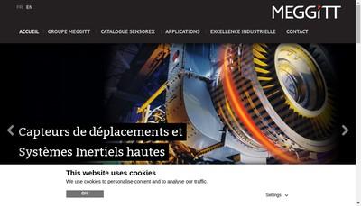 Site internet de Meggitt Sensing Systems