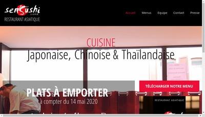 Site internet de Sen Sushi