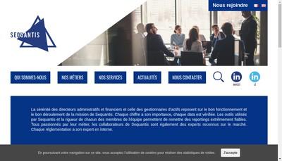 Site internet de Sequantis Lt