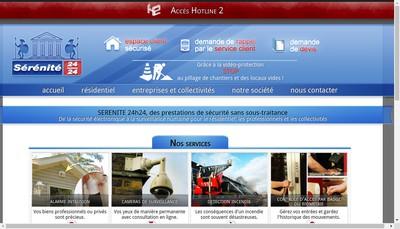 Site internet de Serenite 24H24