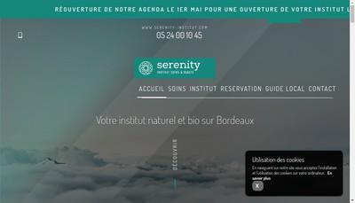 Site internet de Serenity Institut