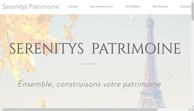Site internet de Serenitys Patrimoine