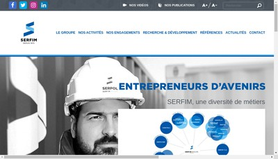 Site internet de Serpollet Finance