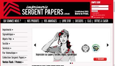 Site internet de Sergent Papers