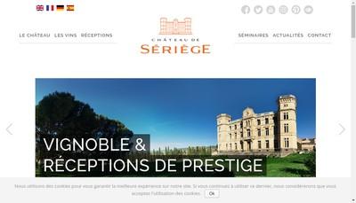 Site internet de SAS Chateau de Seriege