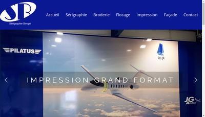 Site internet de Serigraphie Berger