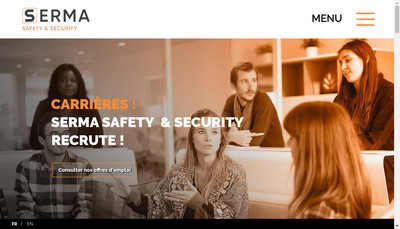 Site internet de Serma Safety And Security