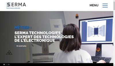 Site internet de Serma Technologies