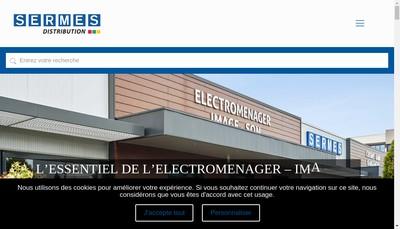 Site internet de Sermes Distribution