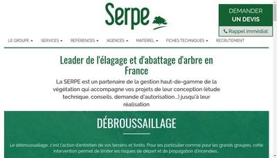 Site internet de Societe d'Entretien et de Restauration du Patrimoine et de l'Environnement