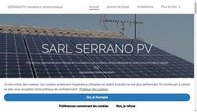 Site internet de Serrano Pv