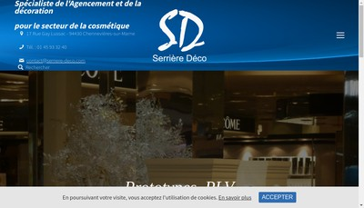 Site internet de Serriere Deco