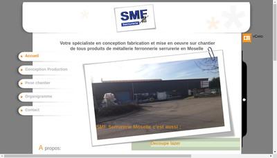 Site internet de Serrurerie Smf