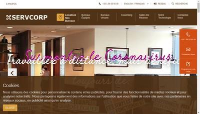 Site internet de Hottdesk-Servcorpvirtuel