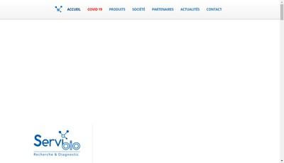 Site internet de Servibio Ema France Biochem