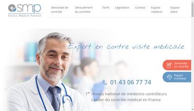 Site internet de Service Medical Patronal - SMP