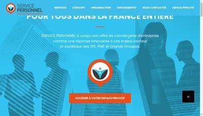 Site internet de Service Personnel Auvergne
