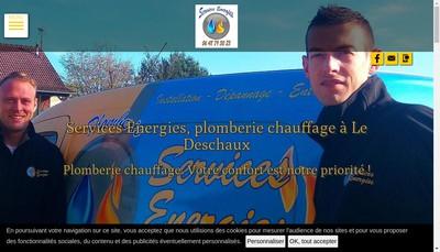 Site internet de Services Energies