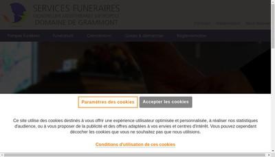 Site internet de Services Funeraires Montpellier Mediterranee Metropole