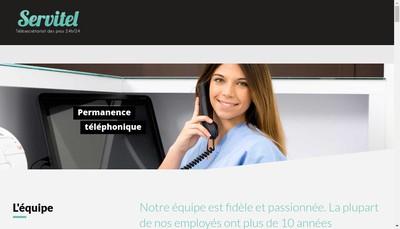 Site internet de Servitel