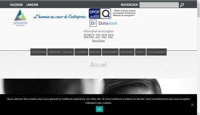 Site internet de Sesame Formation