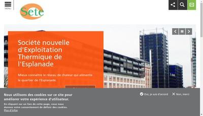 Site internet de Societe Nouvelle d'Exploitation Thermique de l'Esplanade