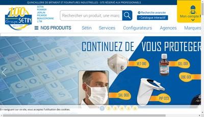 Site internet de Quincaillerie Setin