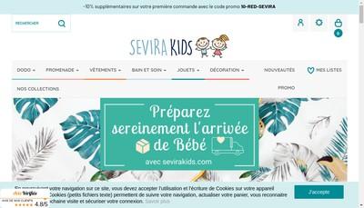 Site internet de Sevira Kids