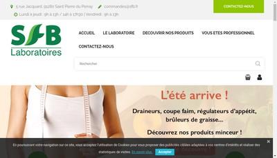Site internet de SFB Sante Forme et Beaute Beauty Life