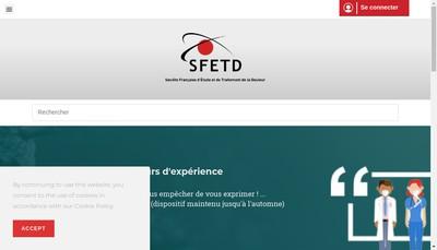 Site internet de Societe Francaise D 'Etude et Traitement Douleur