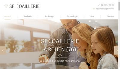 Site internet de Sf Joaillerie