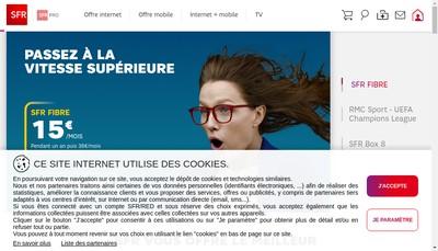 Site internet de Sfr