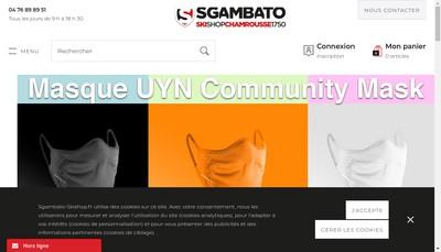 Site internet de Sgambato Sport SAS