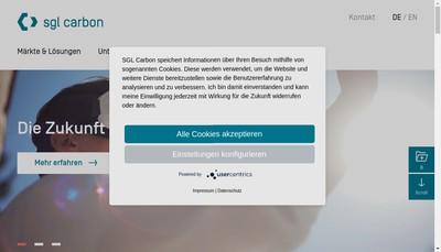 Site internet de Sgl Carbon SA