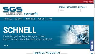 Site internet de Sgs Industrial Services
