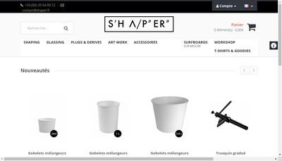 Site internet de Shaper