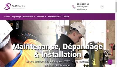 Site internet de Shb Electric
