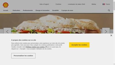 Site internet de Societe des Petroles Shell