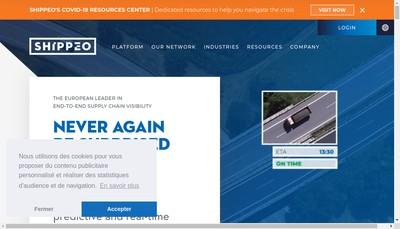 Site internet de Shippeo