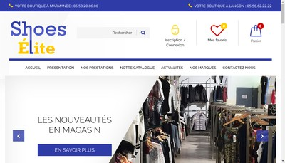 Site internet de Chauss'Famille Shoes Elite