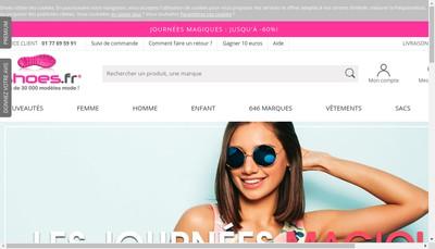 Site internet de Shoes Fr