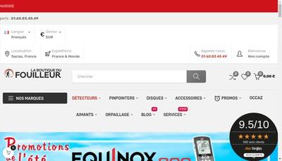 Site internet de La Boutique du Fouilleur