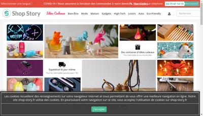 Site internet de Shop-Story